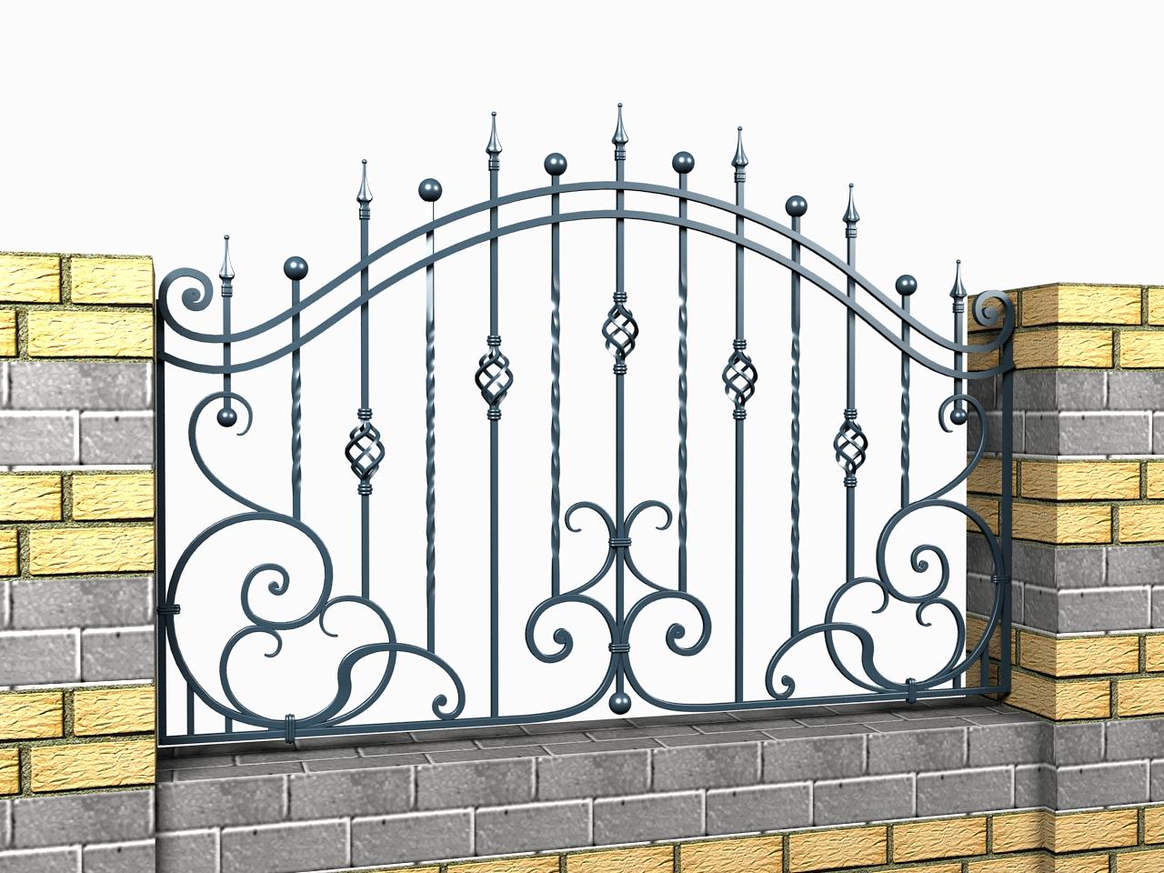 Забор металлический секционный из сварной сетки фото